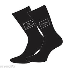 Prima santa Comunione MEDIUM BOYS 12.5 - 3.5 BLACK SOCK personalizzare con nome