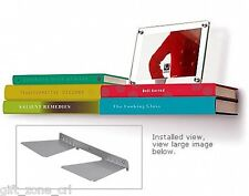 Umbra Invisible Floating CONCEAL DOUBLE BOOK SHELF - LARGE Silver