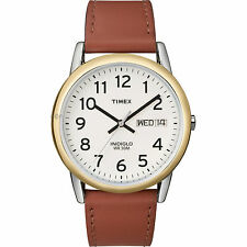 Brand New Timex Men's T20011 Easy Reader Brown Leather Strap Watch