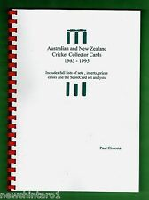#ZZ. AUSTRALIAN & NEW ZEALAND CRICKET COLLECTOR CARD CATALOGUE  1965 to 1995
