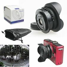 "8mm f/3.8 C mount 4/3"" Fisheye CCTV Lens for Micro 4/3 MFT M4/3 E-PL7 M1 GH4"