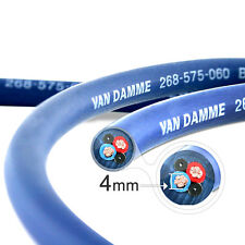 Van Damme Blue Series Studio 2x4mm Twin Axial Speaker Cable 10m - Unterminated