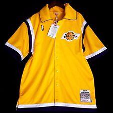 100% Authentic Magic Johnson Mitchell Ness Warm Up Shooting Shirt Jersey 48 XL