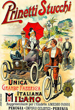 Prinetti Stucchi Automobile Moto Auto Bicycle Bike Cycle  Milano Poster Print
