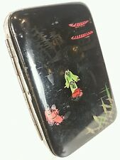 JAPANESE VINTAGE LACQUER CIGARETTE CARD CASE BOX