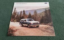 1989 FORD BRONCO 4x4 USA BROCHURE - CUSTOM XLT EDDIE BAUER Models