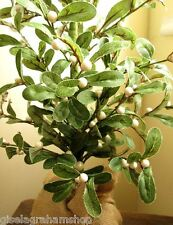 Gisela Graham Christmas mistletoe tree in hessian sack ornament very pretty 85cm