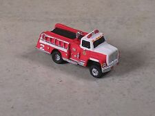 N Scale 2004 Red & White Ford Fire Pumper Truck.