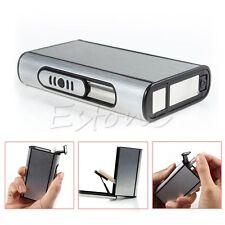 Aluminium étui à cigarettes Holder Pocket automatique d'éjection Briquet New