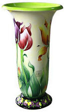 EXQUISITE 14-IN TULIP VASE BY ICING ON THE CAKE - JEANETTE McCALL - BLUE SKY