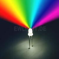 50 LEDs 5mm RGB 2 Pin Farbwechsel SCHNELL automatisch LED REGENBOGEN + Zubehör