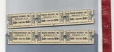 Vintage lot Spencer Speedway Inc. 50c tickets Williamson N.Y. FREE SHIPPING