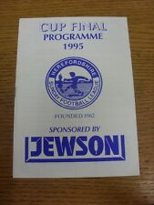 26/03/1995 Herefordshire Sunday League Division 1 Cup Final: Kingstone v Sun Val