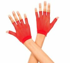 Rouge Résille Danseur Style Mitaines Poignet Gants Lingerie Sexy P401