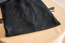 Black Ribbed 40% Wool 60% Cotton Jersey Fabric