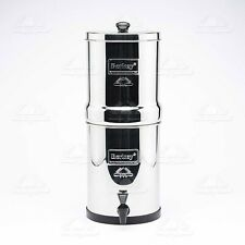 Travel Berkey Water Filter with 2 Black Filters 2 PF2 Fluoride Filters FREE Ship