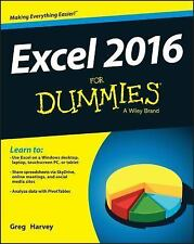 Excel 2016 for Dummies® by Greg Harvey (2015, Paperback)