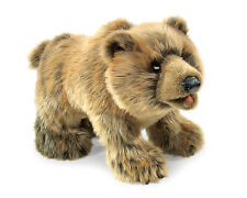 Grizzly Bear Hand Puppet with Moveable Mouth, Folkmanis MPN 2954, 3 & Up, Unisex
