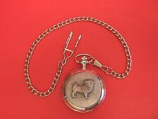 Pug Dog Pocket Watch Pewter Front Albert Chain Boxed Vet Pet Fathers Day Gift