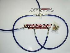 Streamline BLUE +2 Braided Front Brake Lines Yamaha Banshee 350 All Years