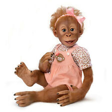 "Ashton Drake - Hold That Pose ""Momoko"" Baby Monkey Doll by Ina Volprich"