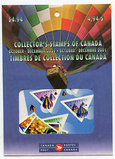 Weeda Canada 2001 Oct-Dec Quarterly Pack, sealed! Face value $4.94, pristine