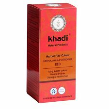 KHADI HERBAL HAIR COLOUR - RED - HENNA, AMLA & JATROPHA - LONG LASTING COLOUR