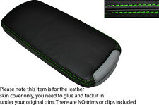 GREEN STITCH LEATHER ARMREST LID SKIN COVER FITS LEXUS IS200 IS220 IS250 06-12
