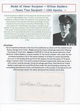 Medal of Honor Recipient ~ Peace-Time Recipient ~ William Badders ~ USS Squalus
