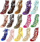 Shoe Republic Keywest Strappy Stiletto Gladiator Lace up Heels Shoes Sandals