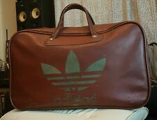 70's Nice Rare Vintage/Retro Brown Gold Adidas Peter Black bag/holdall £69 ono
