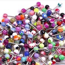 60 X Mixed Color Tongue Ring Piercing Jewellery Tounge Different Barbell Bar