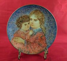 Erica and Jamie 1985 Mother's Day Plate by Edna Hibel-MIB