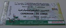 Ticket for collectors Africa Nations Cup 2006 Cameroon DR Congo in Cairo 29.01