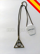 COLGANTE COLLAR  HARRY POTTER RELIQUIAS DE LA MUERTE COLOR ORO DEATHLY HALLOWS
