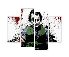 "LARGE CANVAS PRINTS POP ART JOKER BLOOD SPLATTER 4 PANEL 35""(90cm) XXL PICTURES"