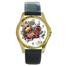 MUPPETS MISS PIGGY ADORABLE GOLD TONE WATCH