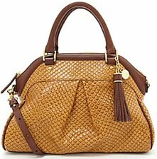 ❤BRAHMIN LOUISE ROSE TOBACCO JAVA TAN BROWN CAMEL SATCHEL ANACONDA EMB LEATHER❤