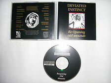 DEVIATED INSTINCT - Re-opening old wounds   1993     D.A.R.011CD       1.press