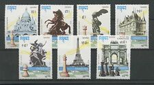 (W0853) CAMBODIA 1990, CHESS, MI 1169/75, SET, MNH/UM, SEE SCAN