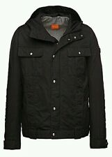Hugo Boss Orange Ojohnny-W Cotton Blend Utility Jacket with Hood 50290109 Black