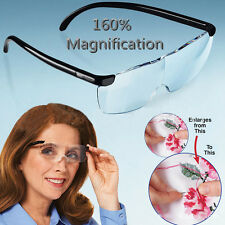 New Pro Big Vision Magnifying Glasses 160% Magnification Eyewear Reading Glasses
