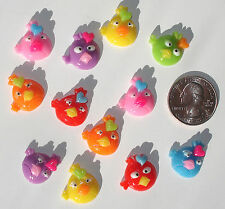 Birds Resin Flatbacks hair bows embellishments scrapbooking craft glue on