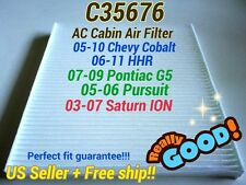 C35676 AC CABIN AIR FILTER for CHEVY COBALT HHR PONTIAC G5 PURSUIT SATURN ION