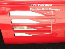 Corvette C4 1991-1993 L98 LT1 ZR1 8Pc FENDER GILL COVERS SPIKE DESIGN Stainless