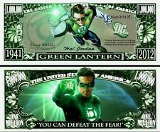 GREEN  LANTERN  Comics. Million Dollar USA. Billet de commémoration / Collection