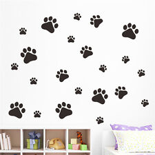 Dog Paw Print Decals Pet Animal 3 Size Wall Window Floor Stickers Big Set