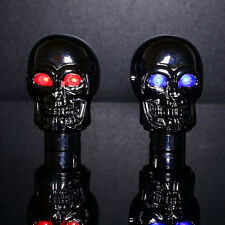 Skull Head Universal Red/Blue LED Gear Shift Knob Stick Retro Shifter Car Auto
