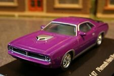 Model Power 19450 1970 Plymouth Hemi Barracuda Purple Diecast H0 Scale 1:87
