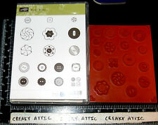 STAMPIN UP BUTTON BUTTON 17 CLING RUBBER STAMPS BUTTONS